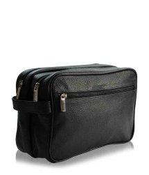 Pfeilring Kulturtasche Schwarz 2 Fächer Kosmetiktasche