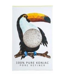 The Konjac Sponge Pore Refiner Minis Rainforest Collection Toucan Gesichtsschwamm