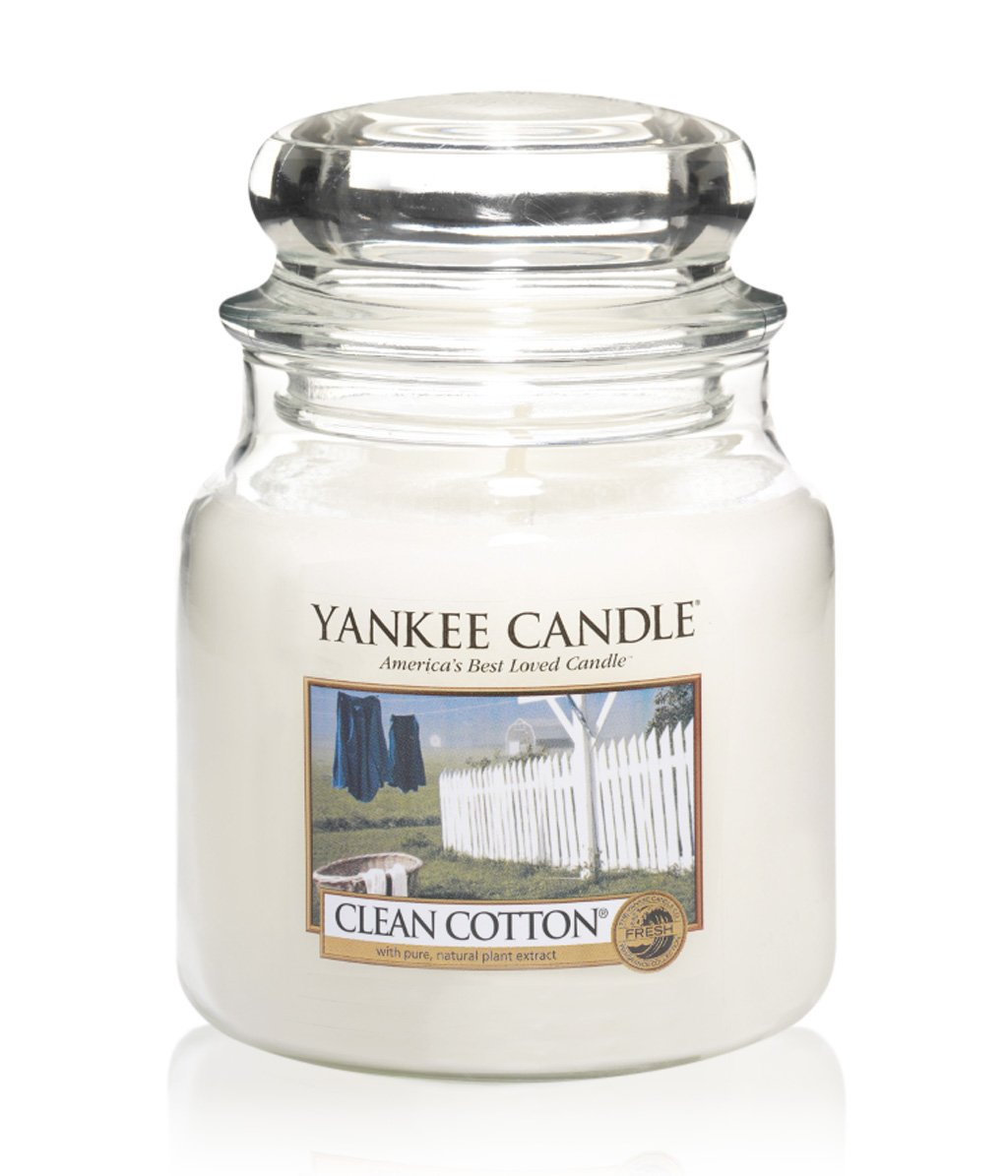 yankee candle housewarmer clean cotton duftkerze bestellen flaconi. Black Bedroom Furniture Sets. Home Design Ideas