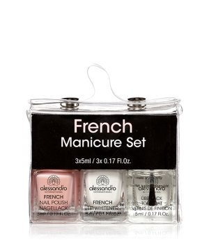 Alessandro French Nail Polish Maniküre-Set für Damen
