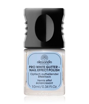 Alessandro Professional Manicure Pro White Glitter Nail Effect Polish Nagelunterlack für Damen