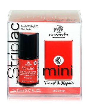Alessandro Striplac Mini - First Kiss Red Nagellack-Set für Damen