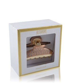 Alexandre de Paris Pince Vendôme 7,5 cm Schwarz-Gold Haarspangen für Damen