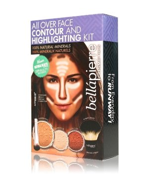 bellápierre All Over Face Highlight & Contour Kit Medium Gesicht Make-up Set für Damen
