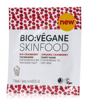 Bio:Vegane Bio Cranberry  Tuchmaske für Damen und Herren