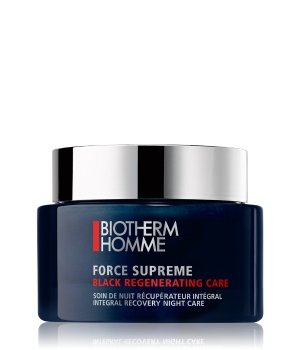 Biotherm Homme Force Supreme Black Regenerating Care Nachtcreme für Herren
