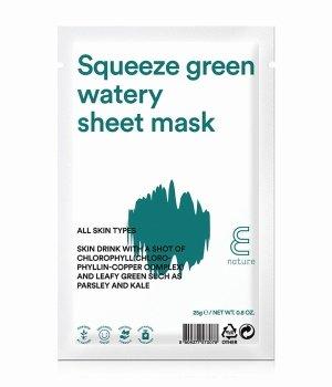 E Nature Squeeze Green Watery  Tuchmaske für Damen und Herren