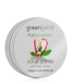 Greenland Fruit Emotions Dragon Fruit-White Tea Scrub Granité Körperpeeling für Damen und Herren