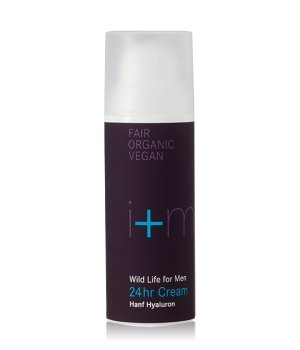 i+m Naturkosmetik Wild Life for Men   24hr Cream Hanf Hyaluron Gesichtscreme für Herren
