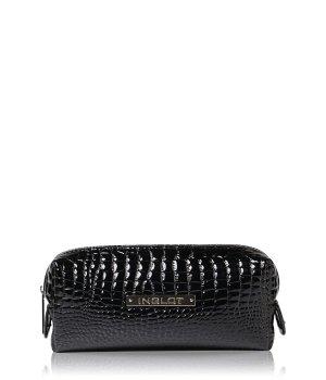 Inglot Makeup Bag Crocodile Leather Pattern Bla...
