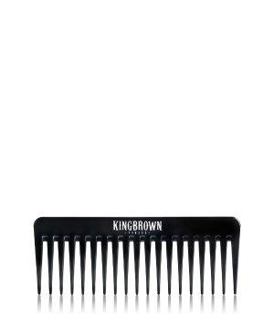 King Brown Plastic Texture Comb Black Strähnenkamm für Herren