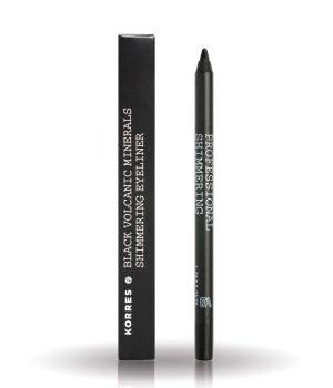 Korres Black Volcanic Minerals Shimmering Eyeliner Kajalstift für Damen