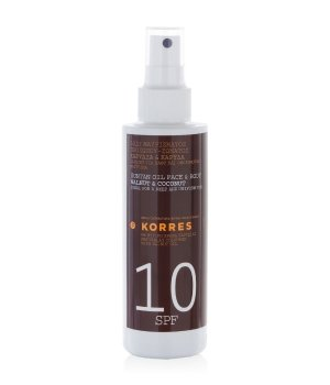 Korres Walnut & Coconut Bräunungsöl SPF 10 Sonnenlotion für Damen und Herren