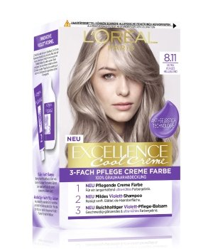 L'Oréal Paris Excellence Cool Creme Nr. 8.11 - Ultra Kühles Hellblond Haarfarbe für Damen