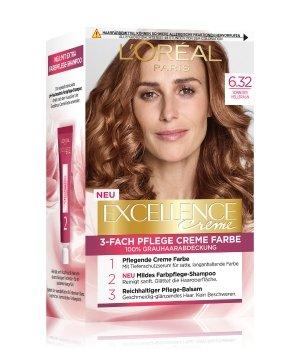 L'Oréal Paris Excellence Crème Nr. 6.32 - Sonniges Hellbraun Haarfarbe für Damen