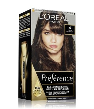 L'Oréal Paris Préférence Nr. 4 - Naturbraun Haarfarbe für Damen
