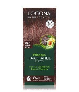 Logona Pflanzen Pulver Dunkelbraun Haarfarbe für Damen