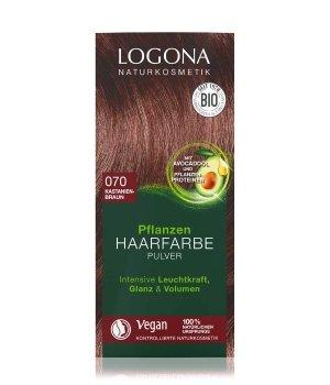 Logona Pflanzen Pulver Kastanienbraun  Haarfarbe für Damen und Herren