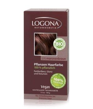 Logona Pflanzen Pulver Maronenbraun Haarfarbe für Damen und Herren