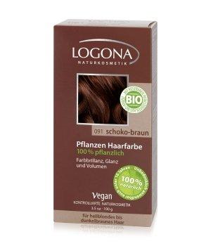 Logona Pflanzen Pulver Schoko-Braun Haarfarbe für Damen und Herren