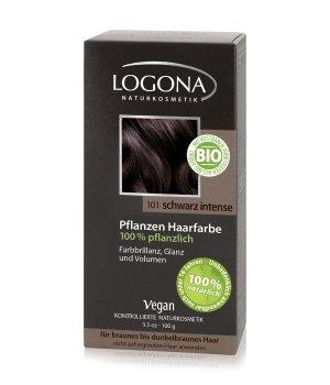 Logona Pflanzen Pulver Schwarz Intense Haarfarbe für Damen und Herren