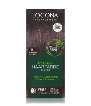 Logona Pflanzen Pulver Schwarz Intense Haarfarbe für Damen