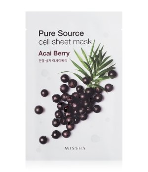 MISSHA Pure Source Cell Sheet Mask Acai Berry Tuchmaske für Damen und Herren