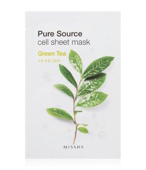 MISSHA Pure Source Cell Sheet Mask Green Tea Tuchmaske für Damen und Herren
