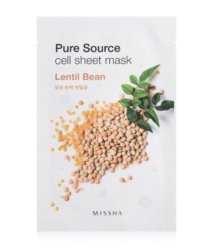 MISSHA Pure Source Cell Sheet Mask Lentil Bean Tuchmaske für Damen und Herren