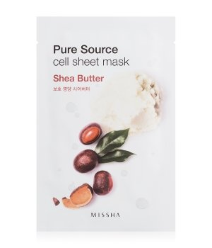 MISSHA Pure Source Cell Sheet Mask Shea Butter Tuchmaske für Damen und Herren