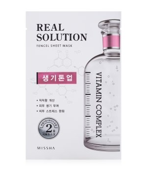 MISSHA Real Solution Tencel Sheet Mask Brightening Tuchmaske für Damen und Herren