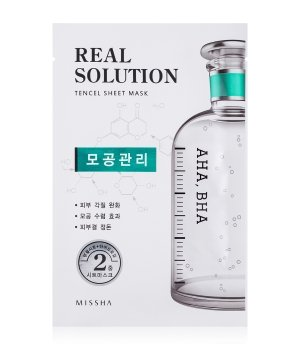 MISSHA Real Solution Tencel Sheet Mask Pore Control Tuchmaske für Damen und Herren