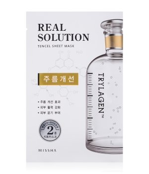 MISSHA Real Solution Tencel Sheet Mask Wrinkle Caring Tuchmaske für Damen und Herren