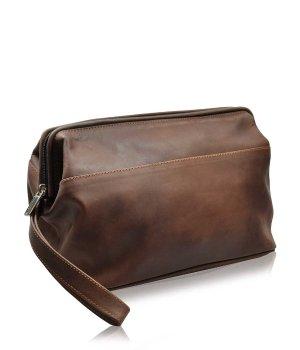 Pfeilring Kulturtasche Braun Doppkit Kosmetiktasche für Damen und Herren