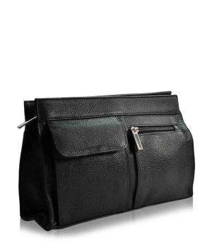 Pfeilring Kulturtasche Schwarz 2 Außenfächer Kosmetiktasche für Damen und Herren