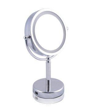 Solida Badserie Chrom 36,5 x 23 Kosmetikspiegel für Damen und Herren