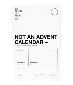 Stop The Water While Using Me All Natural Not An Advent Calender Adventskalender Unisex