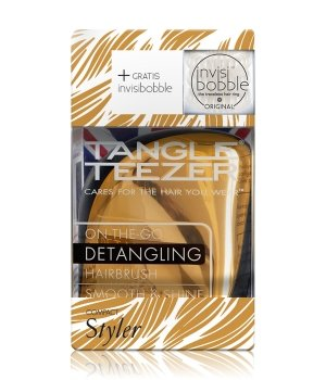 Tangle Teezer Compact Styler Metallic Bronze & invisibobble Crystal Clear  Haarstylingset für Damen und Herren