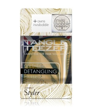 Tangle Teezer Compact Styler Metallic Gold & invisibobble Royal Pearl  Haarstylingset für Damen und Herren