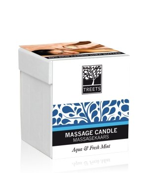 Treets Aqua & Fresh Mint Massagekerze 0,14 kg