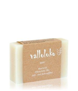Valloloko Haarseife Pur Pflanzliche Öle Stückseife für Damen und Herren