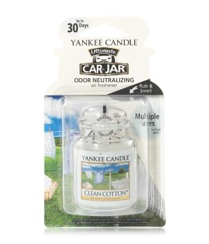 Yankee Candle Car Jar Ultimate Clean Cotton Raumduft für Damen und Herren