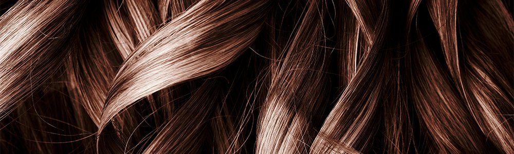 Braune Haare Close-up