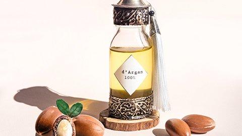 Arganöl in Flasche