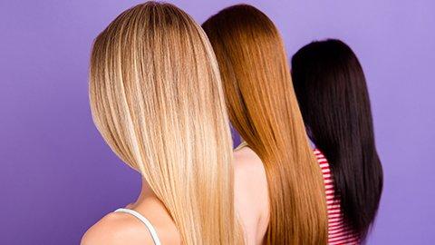 Drei verschiedene Haarfarben