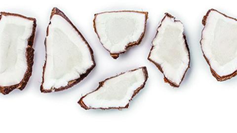Kokosnuss Stücke