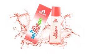 Flakon des Fun Sensation Parfums von Adidas
