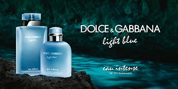 Die Flakons der neuen Dolce & Gabbana Light Blue Intense Düfte