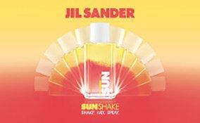 Ein Farbexplosion in Rot- und Gelbtönen mit Jil Sander Sun Shake
