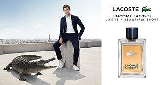 Das Key Visual von Lacoste L'Homme mit Mathias Lauridsen